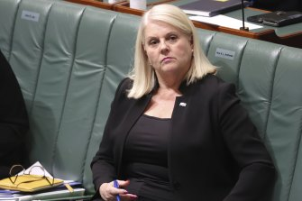 """""""Personally, I'm very pleased she'll be leaving,"""" Home Affairs Minister Karen Andrews said."""