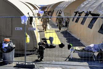 The Afghan refugee camp at the US military base in Ramstein, Germany