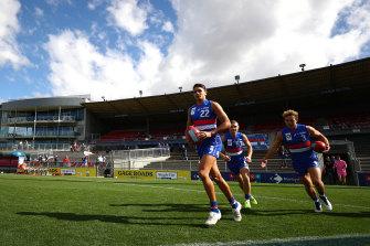 Jamarra Ugle-Hagan runs out in the VFL on Sunday.