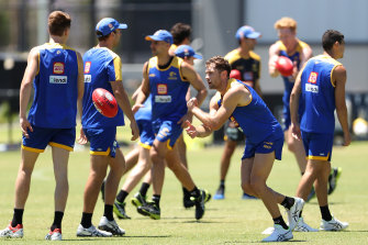 The Eagles were back in pre-season training on Monday.