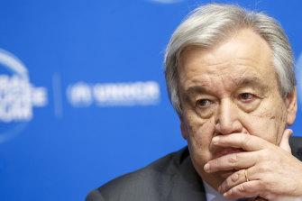 Not optimistic: the UN's Antonio Guterres.