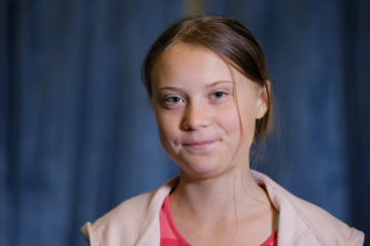 Swedish environmental activist Greta Thunberg before the Climate Strike in New York last week.