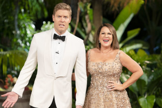 I'm A Celebrity...Get Me Out Of Here! hosts Chris Brown and Julia Morris.