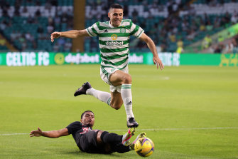 Postecoglou brought on Socceroo Tom Rogic with 12 minutes to play in Glasgow.