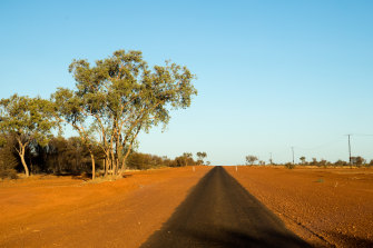 """The Tanami Road north-west of Alice Springs: """"The problem is the closest place is 250kms away."""""""