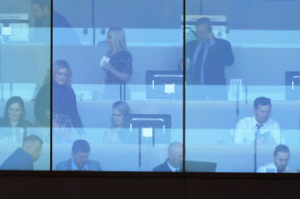 Owners watch from the Queen Elizabeth Stand at Randwick on Saturday.