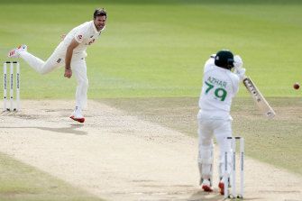Azhar Ali edges one at the Rose Bowl to give James Anderson his 600th Test wicket, the first quick to achieve the mark.