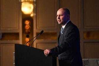 Treasurer Josh Frydenberg speaks at the Leadership Matters event in Perth.