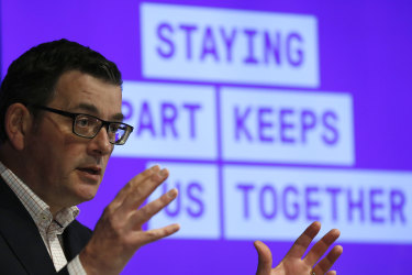 Victorian Premier Daniel Andrews announces fresh restrictions to reduce the spread of COVID-19 on Tuesday.