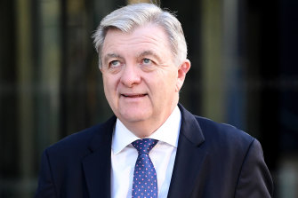 "AMP's Anthony ""Jack"" Regan leaves the royal commission."