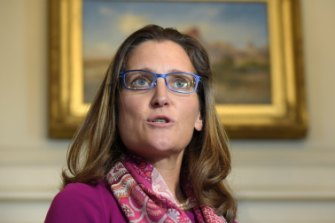 Canadian Foreign Minister Chrystia Freeland.