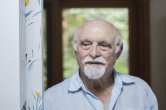 Retired scientist Allan Frey at his home in Maryland. Long ago, he found that microwaves can trick the brain into perceiving what seem to be ordinary sounds.