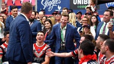 Australian cricketer Steve Smith is a huge fan of the back-to-back premiers.