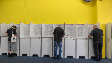 Eager electors cast their vote early in Brunswick this week.