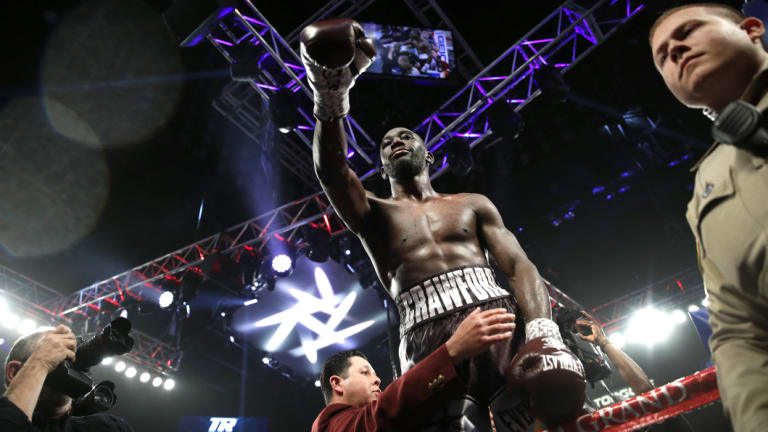 Terence Crawford is on top of the world once more.
