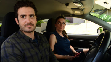 Sam Cotton and Genevieve Hegney in Diary of an Uber Driver
