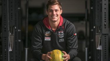Steely determination: St Kilda midfielder Jack Steele broke a club record for tackles in loss to North Melbourne.