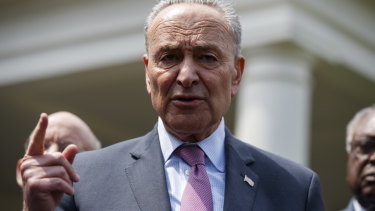 Wants answers: Democrat Senator and Senate minority leader Chuck Shumer.