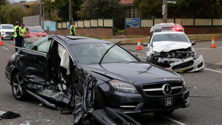 The scene of the crash in Cronulla that left Gai Vieira fighting for life.