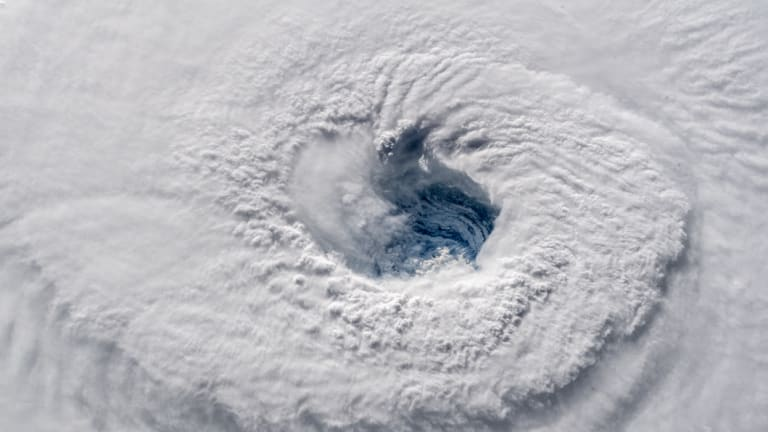 Hurricane Florence, as seen from the International Space Station.