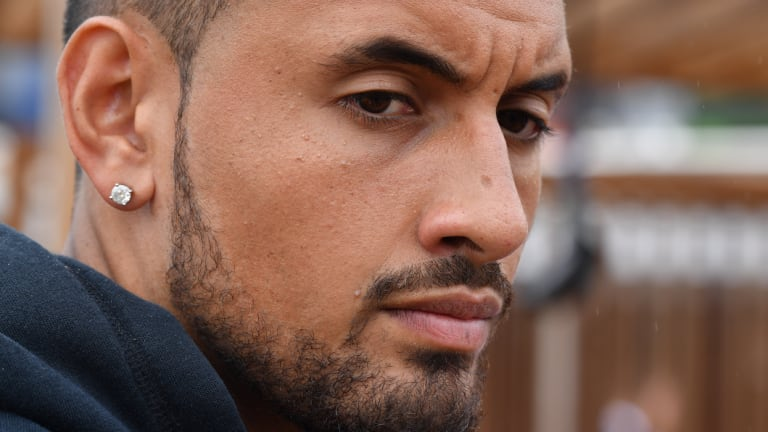 High hopes: Nick Kyrgios at the ATP Cup launch in Sydney on Monday.