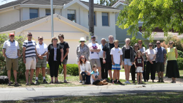 Residents opposed the proposed Telstra telecommunications facility in Castlenau Street, Caringbah South.