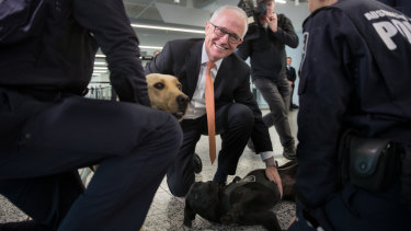 Prime Minister Malcolm Turnbull at Tullamarine Airport in Melbourne for a press conference on enhanced security measures.