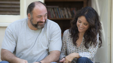 James Gandolfini and Julia Louis Dreyfus in Enough Said, a marvellous film.