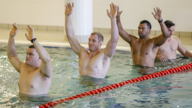 Hands up: Pocock's critics were nowhere to be seen after his return to Test rugby last week.