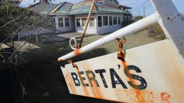 The Sans Souci house called Berta's Corner is being sold.