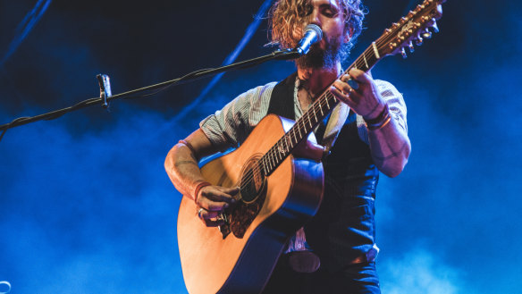 John Butler on stage during his tour with Missy Higgins.