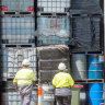 'Like Jenga': Complex, toxic chemical clean-up begins in Melbourne warehouses