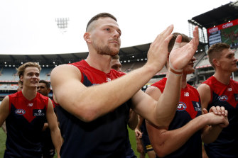 Steven May could be set for a return to the Melbourne lineup in time for the clash with Richmond.