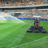 Preparations for the AFL Grand Final are well underway at the Gabba.