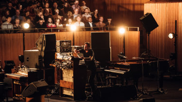 The studio versions are only ever templates for Frahm live.