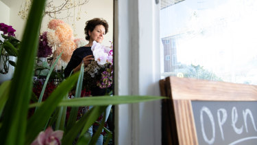 Debbi Weiss opened up her flower shop Hello Bronte in the middle of the coronavirus pandemic in Sydney.