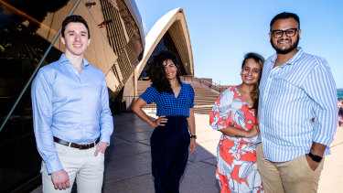 """Gabriele Tedesco (left) said he appreciated Australia's """"she'll be right wisdom, which has helped me through a lot of tough times""""."""