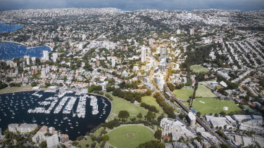 Towers up to 89 metres high could be built in Edgecliff under a draft strategy prepared by Woollahra Municipal Council.
