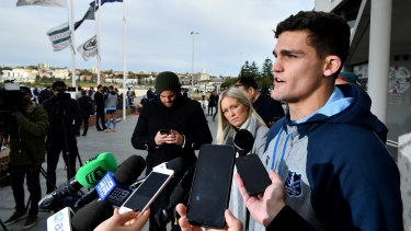 Ran out of time: Nathan Cleary handled being ruled out of Origin with class.