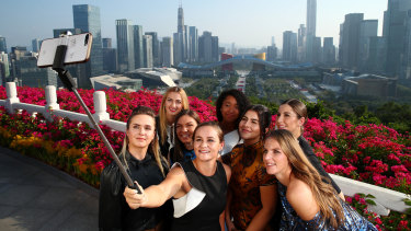 Not all about yourself: The WTA elite.