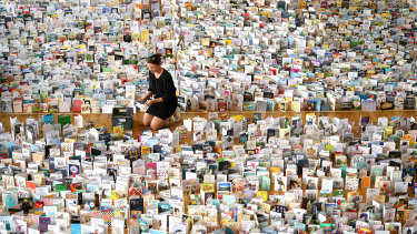 Some of the 125,000 cards sent to Captain Moore for his 100th birthday.
