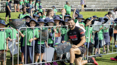 Penrith's Josh Mansour was a crowd favourite on Friday.