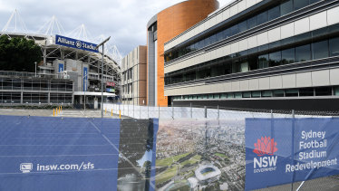 "Contractor Lendlease is forging ahead with ""soft demolition"" works on the Moore Park stadium."