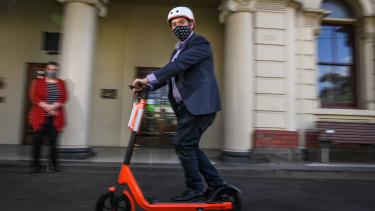 Moreland mayor Lambros Tapinos is calling for an e-scooter trial.