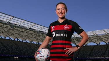 On fire: Wanderers midfielder Erica Halloway balances football with being a fire fighter.