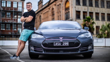 Mathew McCrum bought one of the first batch of Teslas in Australia.