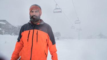 Anton Grimus, a former Winter Olympian, on Mt Buller on Friday last Friday.