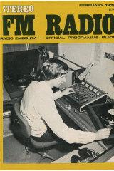 Trevor Jarvie on the airwaves, 1975.
