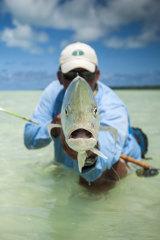 Fishing in Aitutaki lagoon.