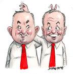 Good mates: Anthony Albanese and Bill Shorten.
